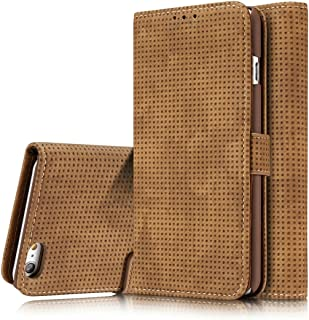 2018 Phone Covers for iPhone 8 / iPhone 7 Retro Style Mesh Breathable Horizontal Flip Leather Case with Card Slot & Holder & Wallet (Color : Brown)