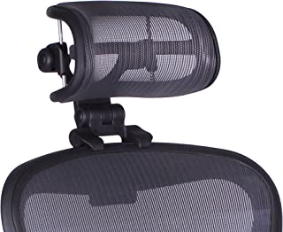 The Original Headrest for The Herman Miller Aeron Chair H4 Graphite   Colors and Mesh Match Remastered Aeron Chair 2017 and Newer Models