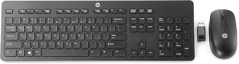 HP Slim Wireless Keyboard & Mouse - Teclado (RF inalámbrico, Oficina, QWERTY, Inglés, Inalámbrico, PC/Server)
