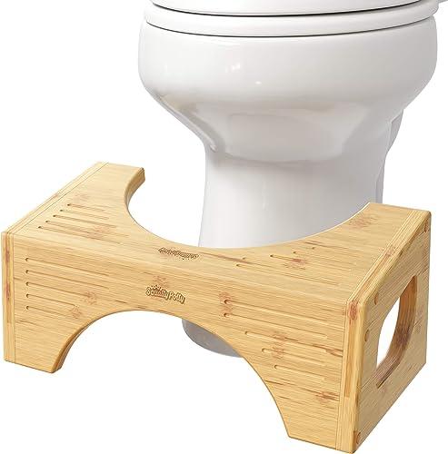 The Squatty Potty Flip Bamboo Toilet Stool