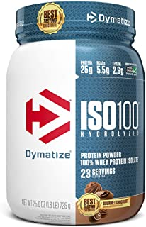 Dymatize Nutrition Iso 100 Whey Protein Isolate Powder - 725 g (Gourmet Chocolate)