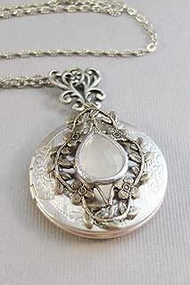 vintage opal locket