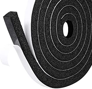 fowong Low-Density Foam Weather Stripping Tape, 1/2 Inch Wide X 1/2 Inch Thick, Window Door Air Conditioner Seal Strip High Resilience(2 Rolls with Total 13 Feet Long)