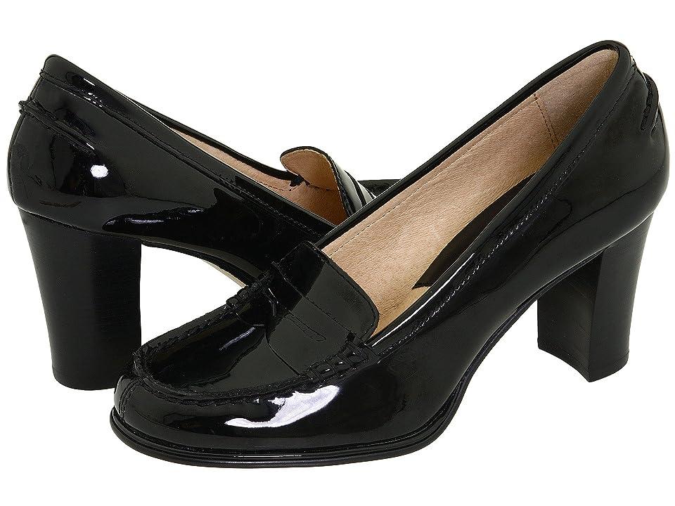 MICHAEL Michael Kors Bayville Loafer (Black Patent) High Heels