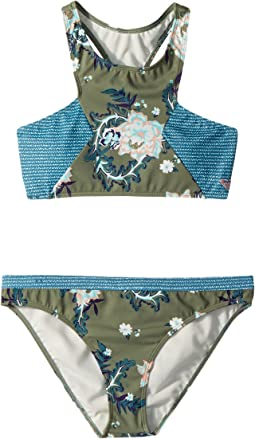Roxy Kids - Surf the Desert Crop Top Swim Set (Big Kids)