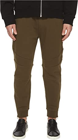 Khaki Sweatpant Bottoms with Ankle Zip Detail