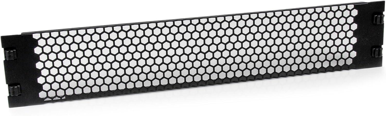 StarTech.com Blanking Panel - 19in Vented Server Rack Panel - Tool-less Installation - TAA Compliant Filler Panel (RKPNLTL2UV)