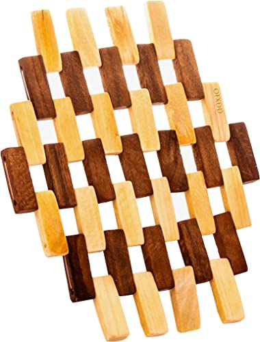 lowest Countertop Mat for Hot Pans Dishes - Natural Modern Protectors sale Trivets for Kitchen Table Wooden outlet sale Trivet - Carved Wood Coasters for Dish Pots sale