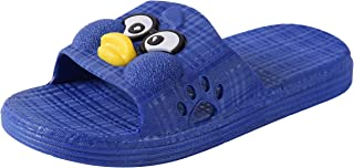 Yellow Bee Hen Slippers for Boys, Blue