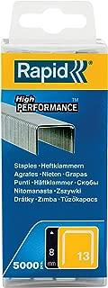 Rapid High Performance Staples, No.13 Leg Length 8 mm, 40303080-5000 Pieces