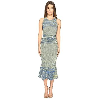 Boutique Moschino Heather Maxi Dress (Blue/Yellow) Women