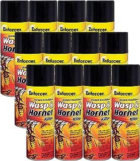 12 Pack Enforcer EWHIK16 Instant Knockdown Wasp & Hornet Killer Spray - 16-oz Ready-to-Use Aerosol
