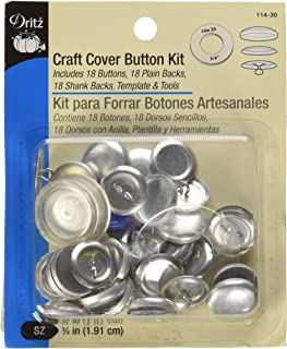 Dritz 114-30 Craft Cover Button Kit with Tools, Size 30 - 3/4-Inch, 18-Sets