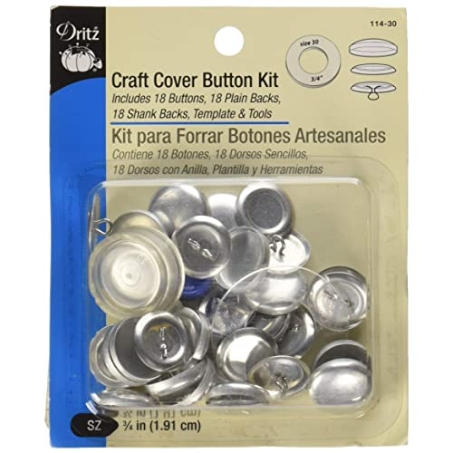 15 sets of 1//2 inch Size 20 Self cover button wire back with Assembly tool