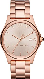 Marc Jacobs Womens Quartz Watch, Analog Display and Stainless Steel Strap MJ3585
