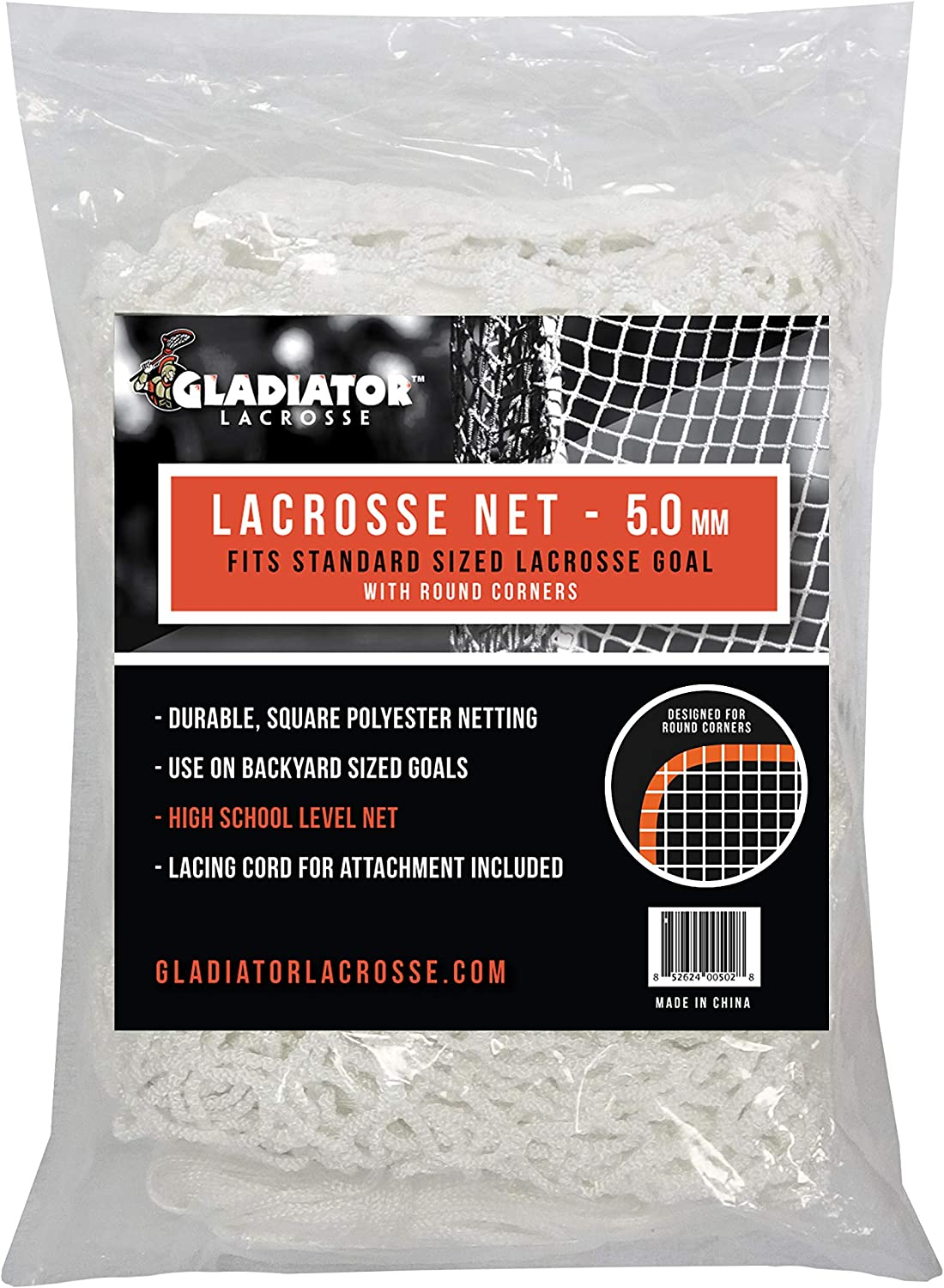 Gladiator Lacrosse LLC 5mm Replacement Net 6'x6' 67% OFF of fixed price - 35% OFF Goal