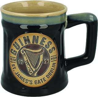 Official Guinness Pottery Beer Mug Tankard 0,5L Black