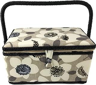 Medium Rectangle Sewing Basket Box with Tray Pincushion 11