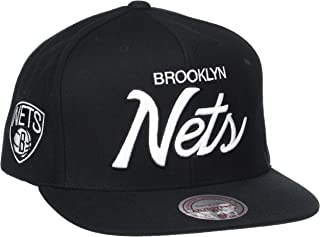Mitchell & Ness Men's The Brooklyn Nets Solid Script Snapback Cap