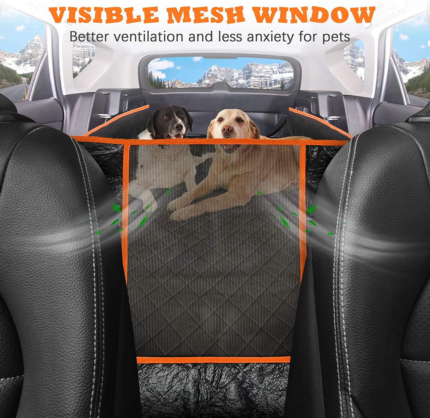 URPOWER Dog Trunk Cargo Liner with Mesh Visual Window Car SUV Seat Cover 100/% Waterproof Dog Seat Cover Nonslip Pet Cargo Cover Washable Durable SUV Cargo Liner with Storage Pockets for Truck and SUV