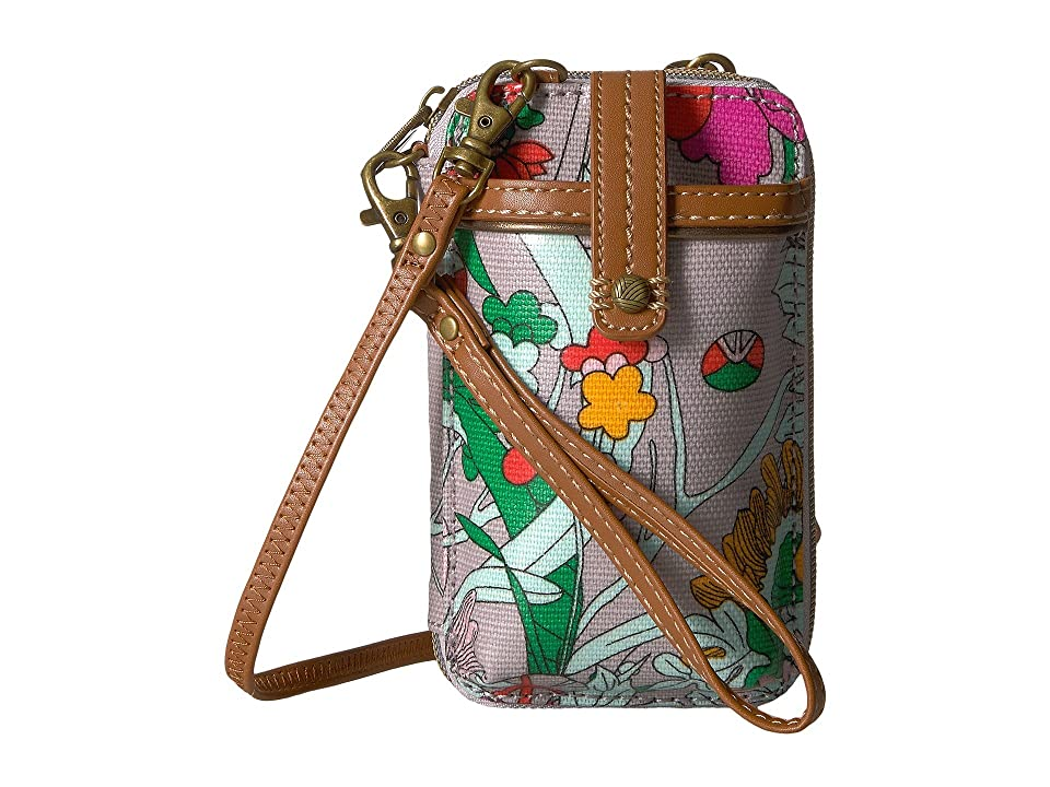 Sakroots Artist Circle Smartphone Wristlet (Lilac Flower Power) Wristlet Handbags