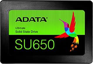 """ADATA Unidad de Estado Sólido SSD SU650 120 GB 3D NAND, SATA III, 2.5"""",TLC, 520 MB/s de lectura y 450 MB/s de escritura"""