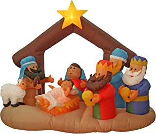 Inflatable Christmas Three Wise Men Nativity Scene Baby Jesus 200cm with LED Lights Outdoor Christmas Decoration Xmas Décor