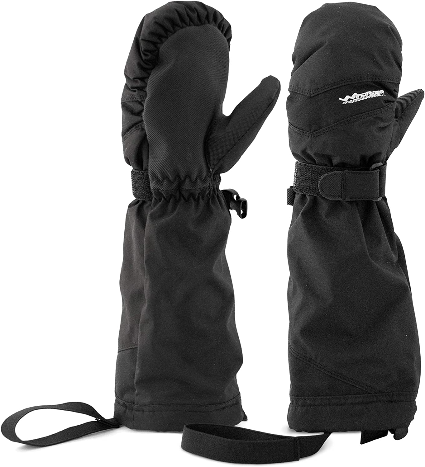WindRider Toddler Waterproof Mittens | Elbow Length Cuff to Keep Snow Out | Wrist Leashes - No More Lost Mittens