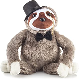 Fancy Friends Sloth Stuffed Animal: These Stuffed Sloth Plush Toys Come With a Tophat, Monocle & Bowtie- Perfect for Children or Adults | Great Party Gift or Bedtime Friend for Boys & Girls | 14