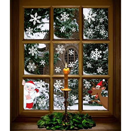 Snow flakes Christmas window decals decoration stickers wall art new year snow winter
