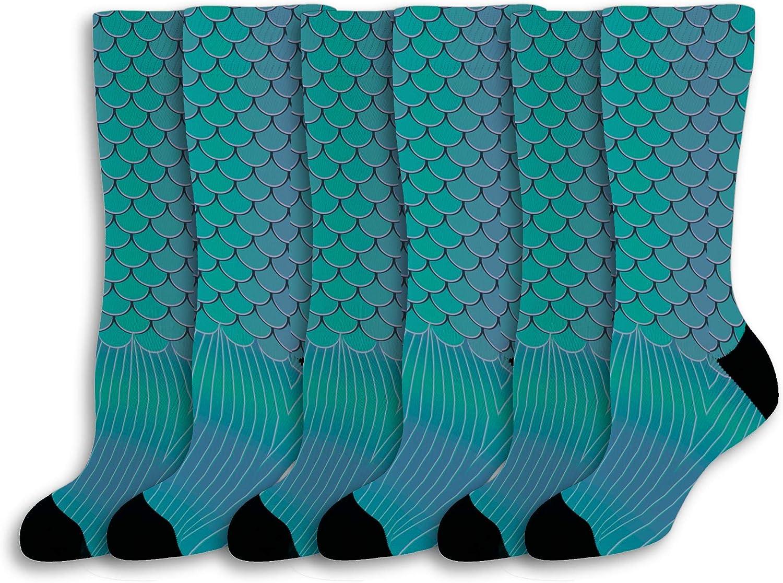 Nautical Socks Merman or Mermaid Tail Socks Mythical Sea Creatur