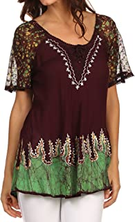 indian cotton tops plus size