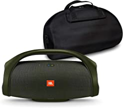 JBL Boombox Portable Bluetooth Waterproof Speaker Bundle with Hardshell Storage Case - Forest Green