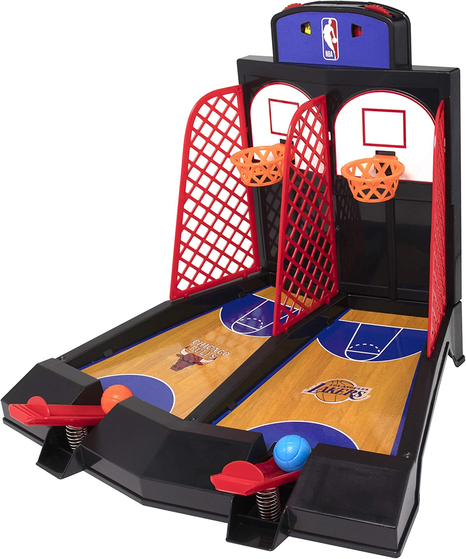 Official NBA Team Logo 2-Player Tabletop Arcade Basketball Game,