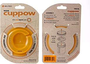 product image for Original Cuppow Wide - Drinking Lid for Wide Mouth Canning Jar! - Orange