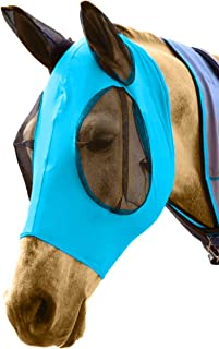 DakPets Horse Fly Mask with Ears - Comfort Fit Fly Mask – Protects The Horse from Insects and Irritants - Lightweight & Co...
