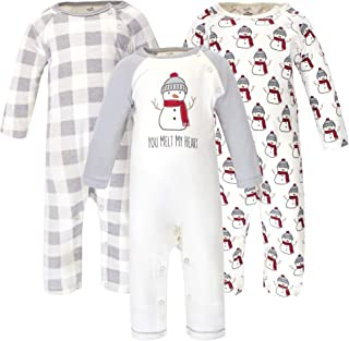 Touched by Nature Baby Boys' Organic Cotton Coveralls and Union Suits