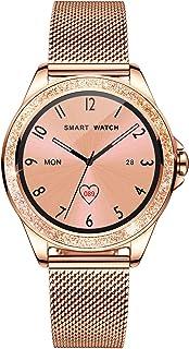 Smart Watch Women, Fitness Tracker, Fashion Diamond Watch with Blood Pressure Sleep Monitor Music Control Pedometer for iP...