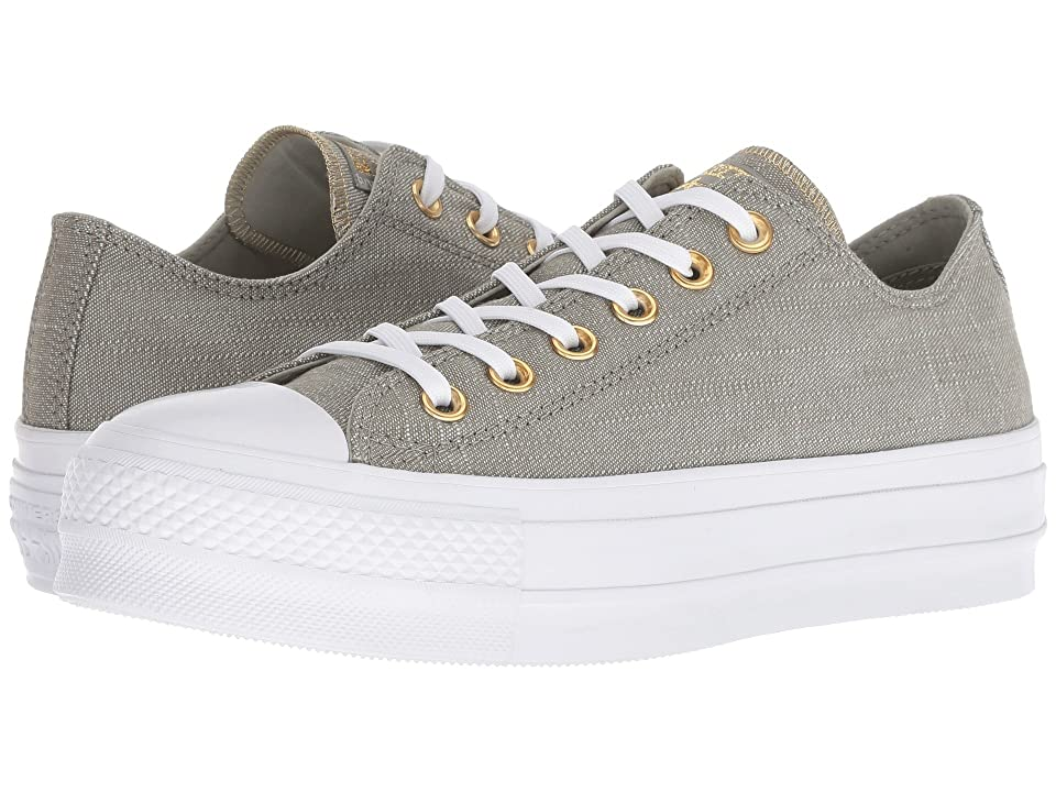 Converse Chuck Taylor(r) All Star(r) Lift Washed Linen (Dark Stucco/Driftwood/White) Women