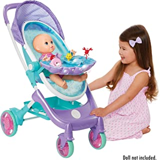 My Disney Nursery Musical Bubble Baby Doll Stroller Inspired by The Little Mermaid, 4-in-1 Feature Doll Stroller, Forup to 14