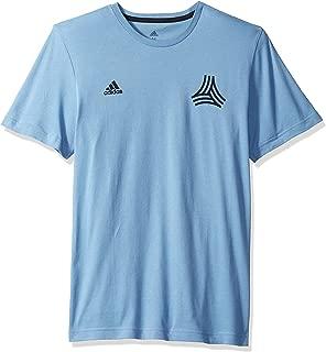 World Cup Soccer Men's Soccer Tango All Over Print Logo Tee, Ash Blue, Medium