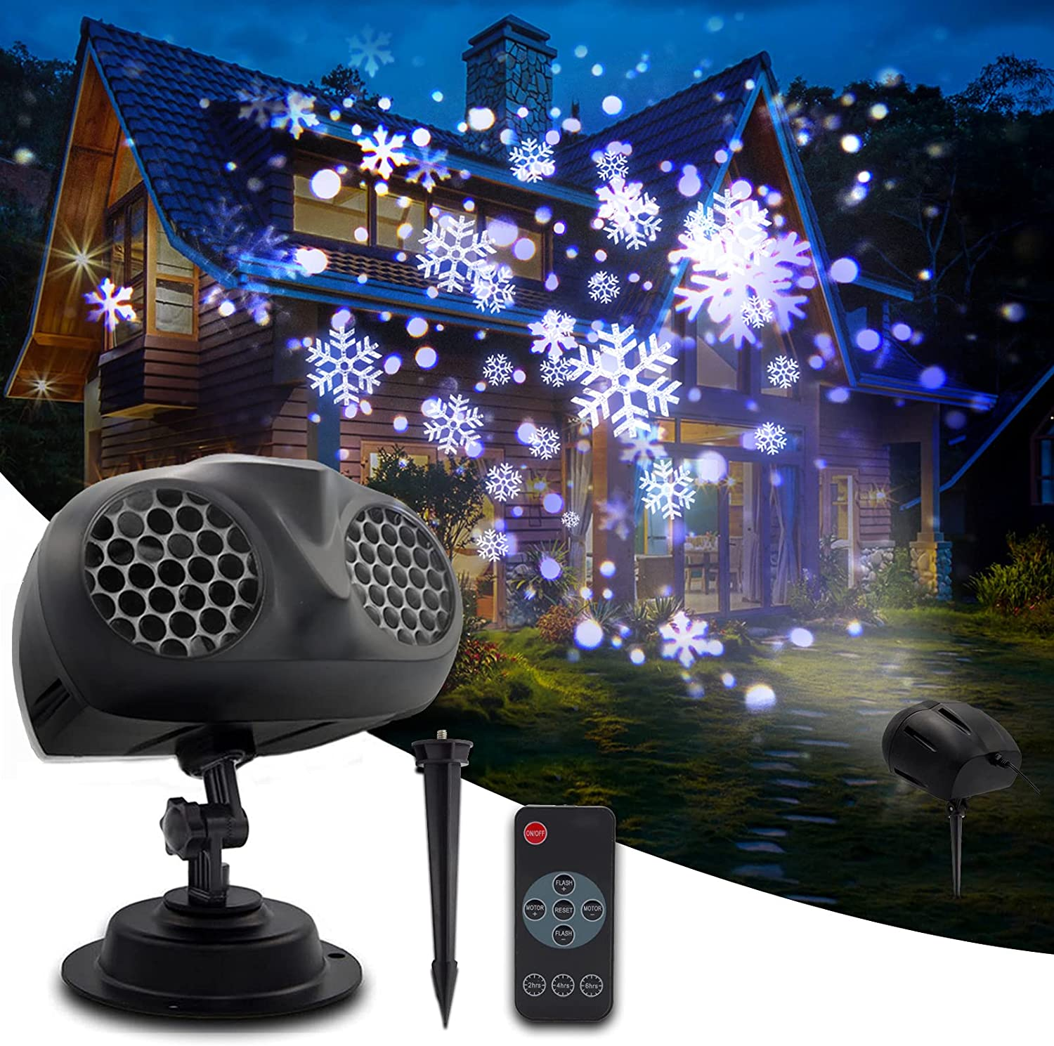 Christmas Fashion Snowflake Projector Lights WEHIGFLY Upgr Outdoor 2021 overseas