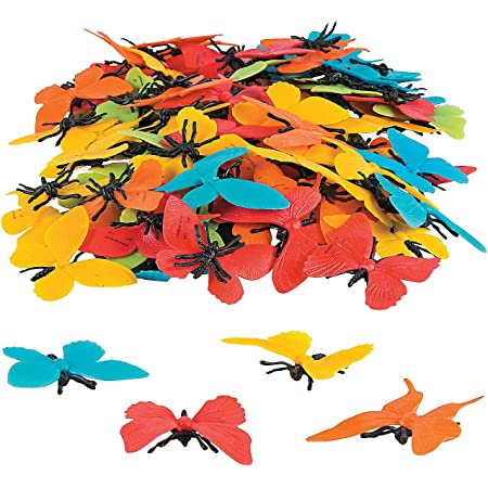 Fun Express Colorful Butterfly Counters - 100 Pieces - Educational and Learning Activities for Kids