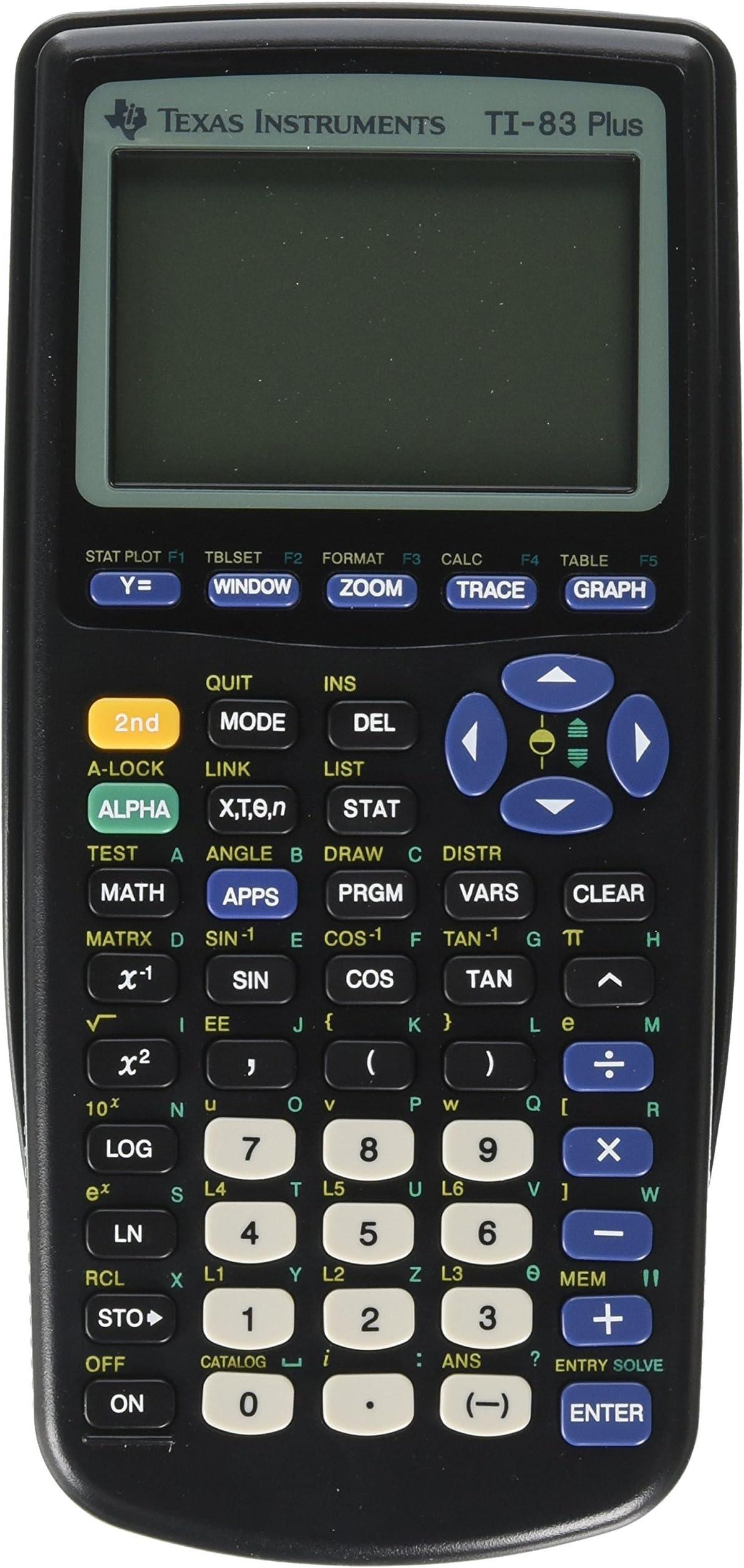 TI 83 Plus Graphics Calculator (Renewed)