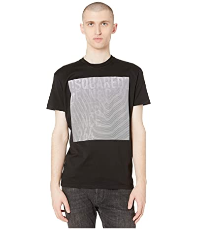 DSQUARED2 Optical Print T-Shirt (Black) Men