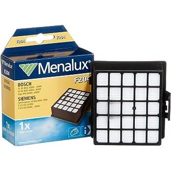 Menalux F 204 - Filtro HEPA 12 para aspiradoras Siemens VS06G Z3 Z4 y Bosch BSG 6, BSGL 30, BSGL 40: Amazon.es: Hogar
