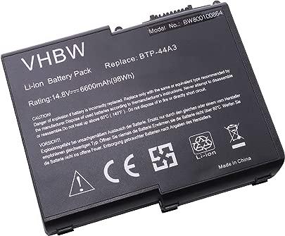 vhbw Akku passend f r Fujitsu-Siemens Amilo D6800  D6820  D7800  D7820  D8800  D8820 Laptop Notebook  Li-Ion  6600mAh  14 8V  97 68Wh  schwarz