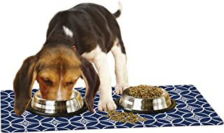 Drymate Pet Placemat,  Dog Food Mat or Cat Food Mat - (Made from Recycled Fibers,  Machine Washable) 100% Phthalate and BPA Free