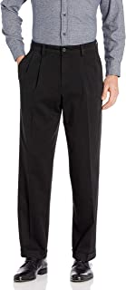 Men's Relaxed Fit Easy Khaki Pants-Pleated D4