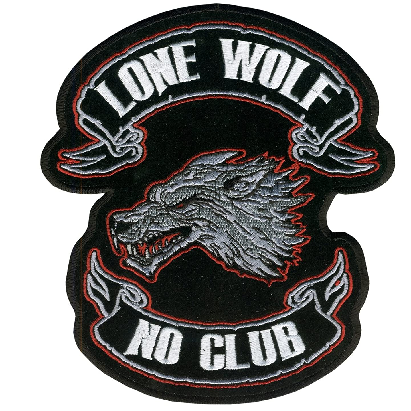 Hot Leathers Lone Wolf Embroidered Patch (4